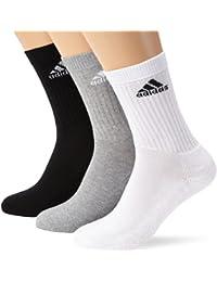 adidas Adicrew Lot de 3 paires de chaussettes White/Medium Grey Heather/Black FR
