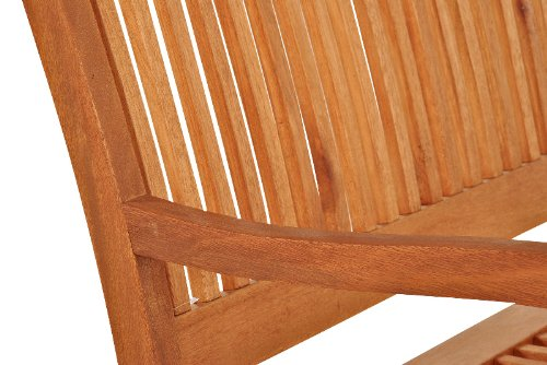 SAM® Gartenbank Maracaibo aus Akazienholz, FSC® 100% zertifiziert, 157 cm breit, 3-Sitzer Holzbank, geölt, Gartenmöbel aus Holz für Terrasse & Balkon - 4