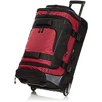 AmazonBasics Ripstop Wheeled Duffel - 30-Inch, Red