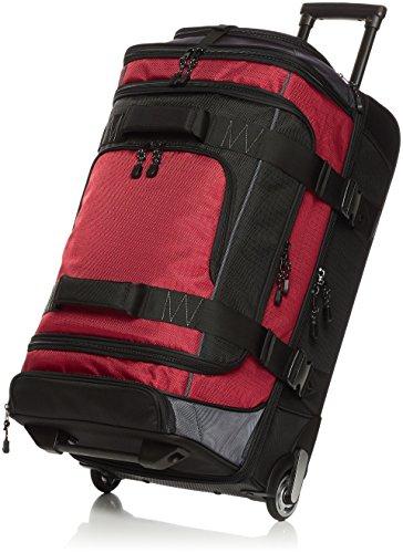 AmazonBasics - Borsone da viaggio con ruote, in Ripstop, 76 cm, Rosso
