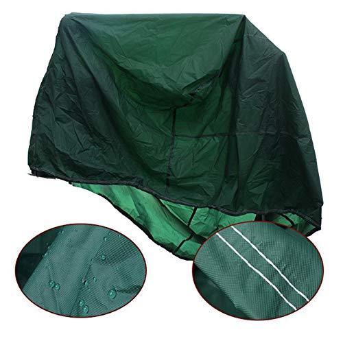 JS-YHLUSI Schutzhülle, Runden Draussen Möbel Staubschutz (Upgrade), Polyester Wasserdicht Anti-UV, Passend für Terrasse Tabelle Stuhl,Green,95X140CM - Polyester Runden Stuhl