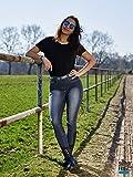 Reithose Elli Jeans stoned Wash Schwarz / Gräulich Damenreithose Voll Grip + Schlupf 36 80 40 42 Tyssons Breeches ! (40)
