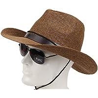 Sunbohljfjh Sombrero de Copa Masculino al Aire Libre Hebilla de cinturón Salvaje Sol Sombrero Sombrero 56 * 58cm
