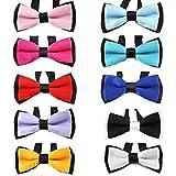 GOGO Hundehalsband/Halsband mit Fliege für Haustiere, unterschiedliche Designs, 10 Stück in Unterschiedlichen Designs