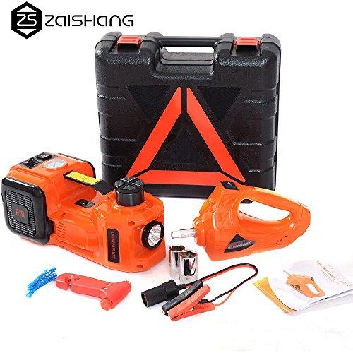 ZS ZAISHANG - Gato electrohidráulico, 5 toneladas, 15,5 ~ 45 cm, dispositivo multifuncional, destornillador eléctrico, bomba de aire