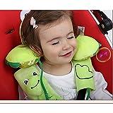 Inchant enfants en bas âge de bébé Head Neck Support appuie-tête et ceinture de sécurité couverture Bracelet - Grenouille verte Cartoon - 1-4 ans