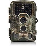Caméra de Chasse, H&O 16MP 1080P HD Caméra de Surveillance Etanche Plage De Détection 125 ° 82ft Grand Angle De Vision Nocturne Infrarouge Nocturne