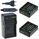ChiliPower Panasonic DMW-BLG10, DMW-BLE9 Kit: 2x Batterie (1025mAh) + Chargeur pour Panasonic Lumix DMC-GF3, DMC-GF5, DMC-GF6, DMC-GX7