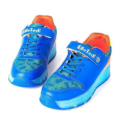 ilifetech-kids-heelys-rechargeable-led-roller-skate-shoes-blinking-sneakers-with-wheels-35eu-25uk-bl