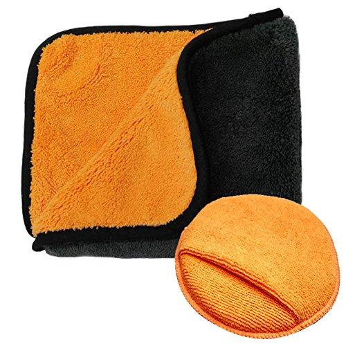 Boonor serviettes microfibre de nettoyage polissage de voiture séchage rapide, ultra épaisse chiffon en voiture épilation à la cire 40x40 cm