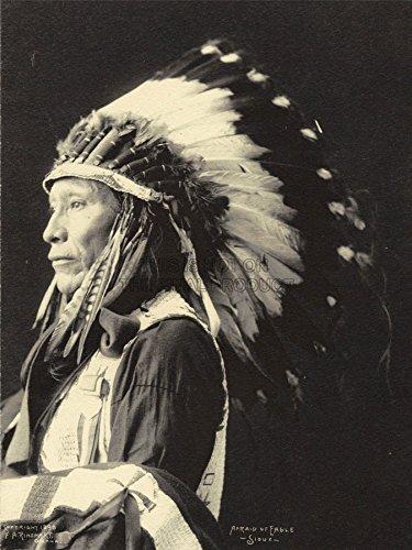 Wee Blue Coo LTD Photo Black White 1898 Indian Congress Afraid Eagle Sioux Native Canvas Print (Eagle Native)
