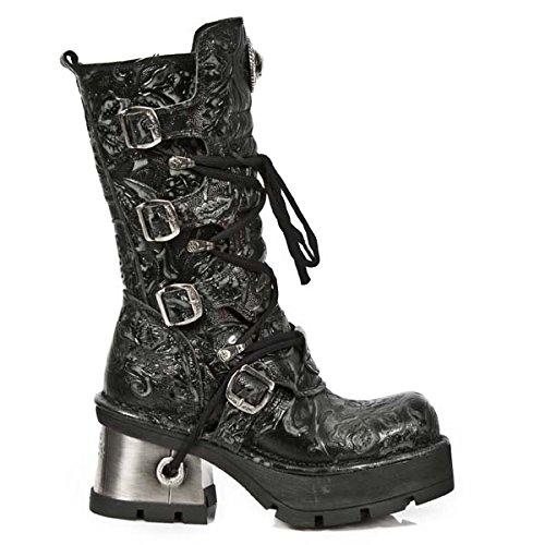 New RockM 373 Qs3 - Stivali Donna , Nero (Black (nero)), 38 EU