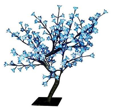 The Benross Christmas Workshop 60 cm 128 LED Blossom Tree, Blue/ White by Benross Group
