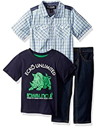 Marc Ecko Boys' Woven Sport Shirt, T-Shirt, and Jean Set
