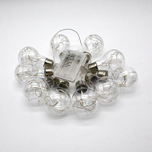 LED Lichterkette Birne Gluehbirne Globe 6M 20LEDs Draht innen Starry String Kleine Leuchten für Garten, Haushalt, Hochzeit, Weihnachtsfeier, Weihnachten - (Kostüm Jägermeister Mädchen)