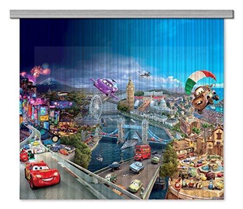 Ag design fcsxxl 7026disney cars, camera dei bambini tenda/tenda, 280x 245cm, 2pezzi (140x 245cm), plastica, multicolore, 0,1x 280x 245cm