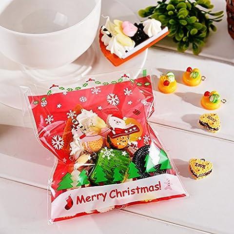 lesilverskys (TM) Natale decorazione 50pcs autoadesiva Sacchetti di plastica per