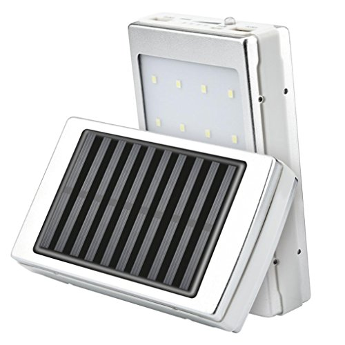 Powerbank Kit, erthome Solar LED Portable Dual USB Energienbank 5x18650 Externes Ladegerät DIY Akku Box - Solarenergie-handy-fall