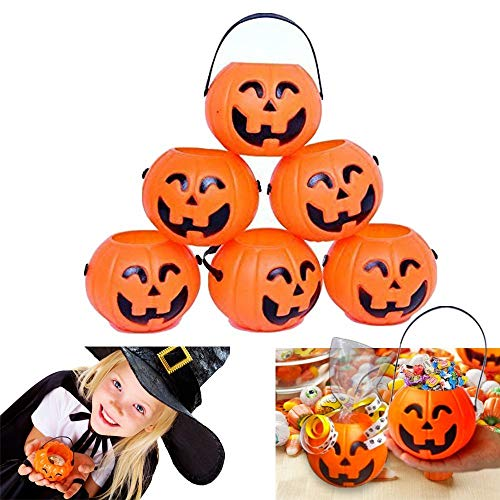 aloiness Halloween Kürbis Lichter Kürbisse Halloween Dekoration Candy Jar Laterne Party Requisiten für Kinder (Laternen Halloween Jar)