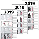 4 Monats-Wandkalender Kombipack 2017 weiß/grau (1 Pack = 3 St.)