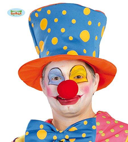 Guirca Clownshut Orange Blau Lustig Hut Clown Kostüm Erwachsene Zubehör Fasching ()