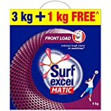 Surf Excel Matic Front Load Detergent Powder, 3 Kg + 1 kg Free