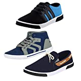 #9: Earton Men Canvas Combo Pack of 3 Casual Shoes (Sneakers)