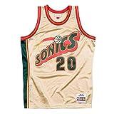 Mitchell & Ness Gary Payton #20 Seattle Supersonics 1995-96 Gold Collection NBA Trikot, L
