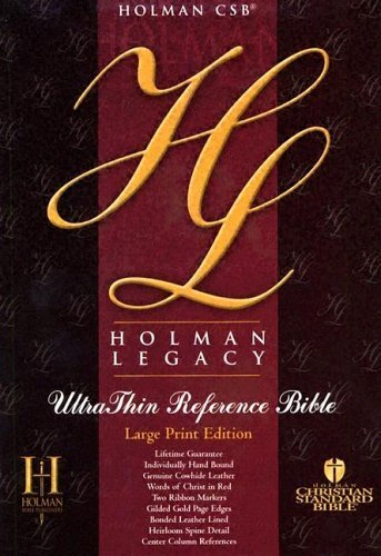 Ultrathin Reference Bible-Hcsb-Legacy-Large Print