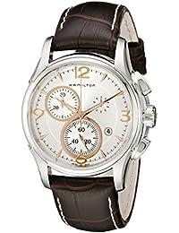 Hamilton - Reloj Analógico de Cuarzo para Hombre, correa de Acero inoxidable color Plateado