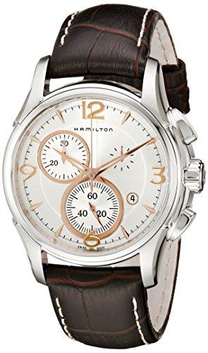 Hamilton Orologio Cronografo Quarzo Uomo con Cinturino in Pelle H32612555