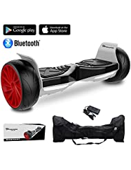 """EVERCROSS 8.5"""" Hoverboard Scooter Patinete del mano Eléctrico Bluetooth APP self balancing 350WX2 Challenger GT (Black)"""
