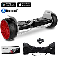 "EVERCROSS 8.5"" Hoverboard Scooter Patinete del mano Eléctrico Bluetooth APP self balancing 350WX2 Challenger GT (Black)"