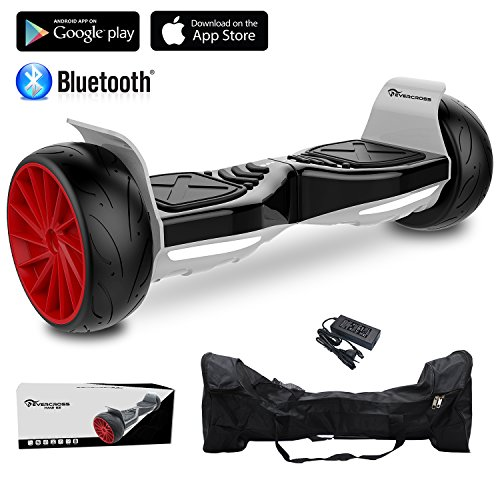 EVERCROSS Hoverboard Challenger GT Monopattino Elettrico , Balance Scooter Skateboard, con Bluetooth, APP e LED , Motore 700W(2*350W), con Due ruote 8.5in(Nero)