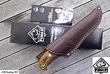 PumaTec Gürtelmesser mit Messerscheide Puma IP C II 825050 Holz, Chrom