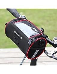Ciclismo para bicicleta de Roswheel delantera bicicleta plegable manillar bolsa cesta bolsa de mochila transparente PVC para Mapa al Aire Libre