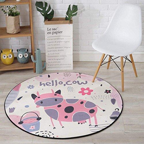 Yan tappeto tappeto, tappeto, bambini 's cuscini cartone animato soggiorno tappeto camera da letto, sedie per computer tappetino, balconi casa tappeto cesto sospeso,diametro 60 cm