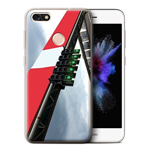 Stuff4® Gel TPU Hülle/Case für Huawei P9 Lite Mini/Start Ampel Muster/Rennstrecke Foto Kollektion