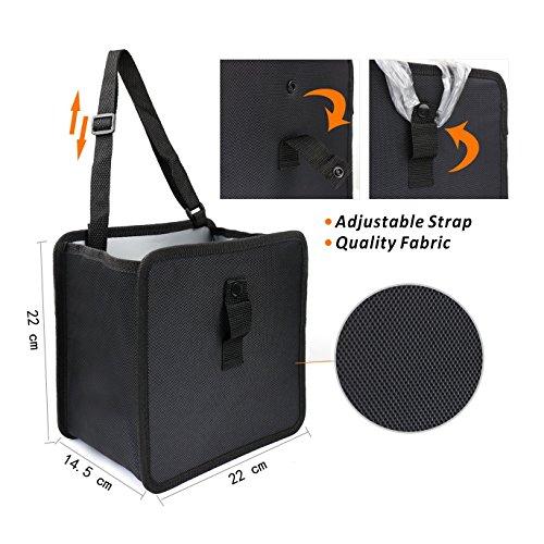 Poubelle de voiture sac de corbeille de voiture pliable imperméable anti-fuite Organiseurs pour voiture. 6.5ltr Contenance