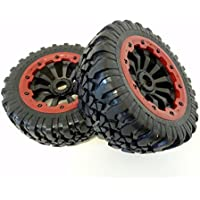 King Motor X2 Wheels (red) (set of 2) Fits LOSI 5IVE T and Rovan LT 4WD Truck by King Motor RC - Compare prices on radiocontrollers.eu