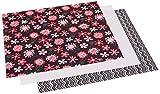 Dritz 21x 24babyville PUL Wasserdicht Windel Stoff Schnitte, schwarz, 3Stück Chevron/Pink Floral