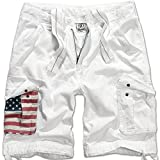 Brandit Urban Legend Stars & Stripes Short Blanc