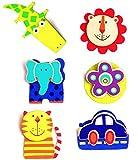 3 Stück _ Notizzettel Halter / Clips mit Magneten / Fotohalter -