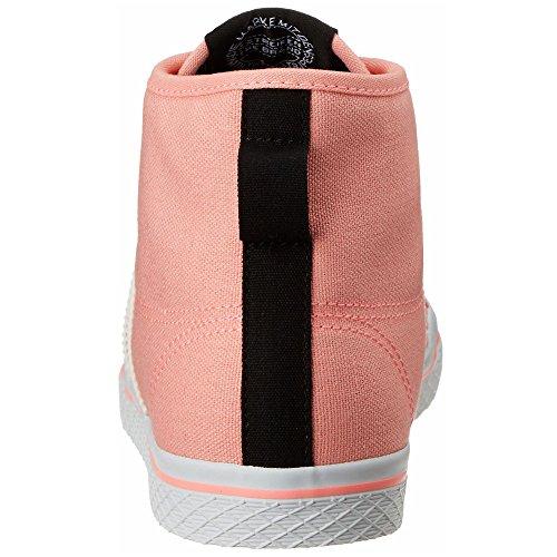 Adidas M19701, Basket-ball Femme Rose-Blanc
