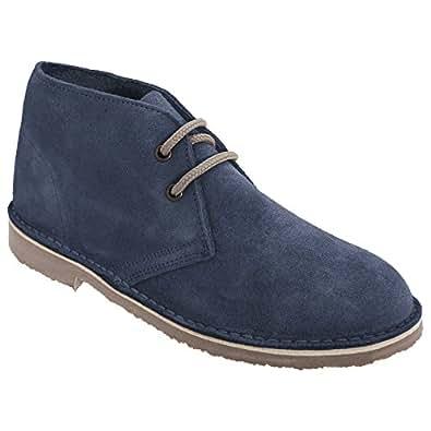 Roamers Damen Desert Boots / Wüstenstiefel / Schuhe, Wildleder, ungefüttert (38 EU) (Helles Taupe)