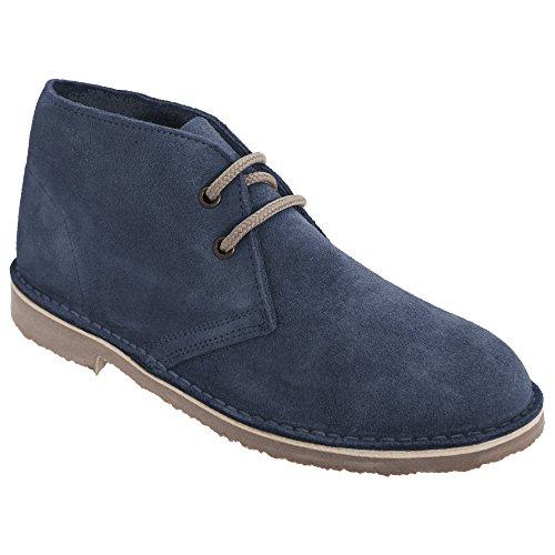 Roamers Damen Desert Boots / Wüstenstiefel / Schuhe, Wildleder, ungefüttert (39 EU) (Denim Blau) (Wildleder Schuhe Boot Leder)