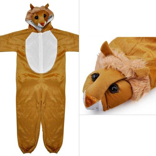 Imagen de sodial r disfraces de animales zoologico de corral de bosques para ninos de disfraces ninos ninas  marron l leon  alternativa