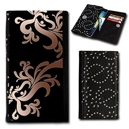 Strass Book Style Flip Handy Tasche Case Schutz Hülle Foto Schale Motiv Etui für Archos 50 Cesium - Flip SU5 Design7