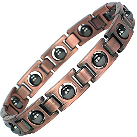MPS® Copper Magnetic Therapy Bracelet for men with clasp and