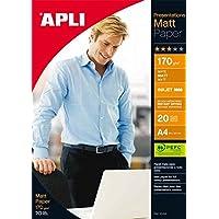 APLI 01041820Matte Presentation Paper, 210x 297mm, 170g